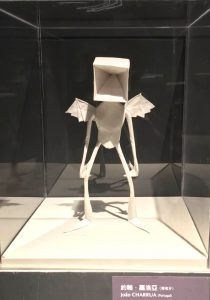 Joao Charrua - Empty Angel - origami exhibition display