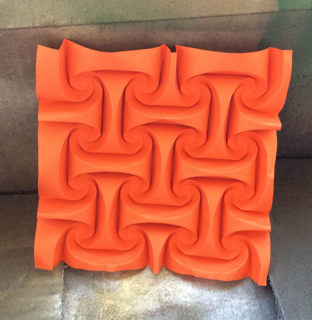 origami tessellation before painting paper